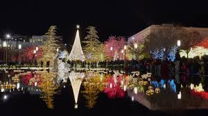 temple square lights 2017 schedule time lapse video christmas lights brighten temple square