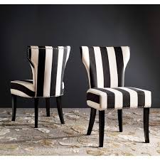 Safavieh Dining Room Chairs by Safavieh En Vogue Dining Matty Black And White Striped Dining