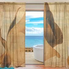 Sheer Door Curtains Online Shop Sheer Door Curtain Panels W55xl78 Inch W55xl84 Inch