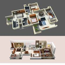 floor plan design of 2bhk u0026 3bhk 3d design work pinterest house