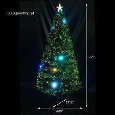 amazon com 6 u0027 artificial fiber optic w led lights holiday