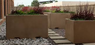 6ft rectangular concrete planter site furnishings concrete planter