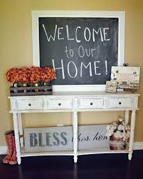 Entry Table Decor by Babblings And More Entry Table And Chalkboard Makeover