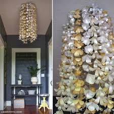 flowers home decor diy paper flower chandelier by lia griffith project home decor