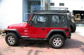 cargo rack for jeep wrangler rack luggage rack and sunshade in one for jeep tj
