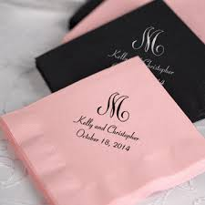 wedding napkins tradition is the new trend take your monogram wedding to a whole