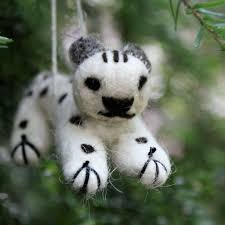 snow leopard trust ornaments toys