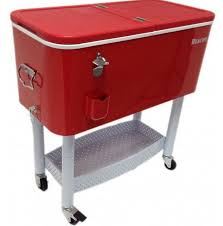 Red And White Kitchen by Furniture Red And White Patio Cooler Cart With Bottom Storage For