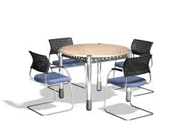 small round conference table small round meeting table and chairs 3d model 3dsmax files free
