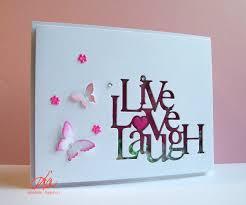 frantic stamper precision die live love laugh