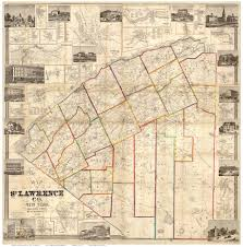 Norfolk County Wall Map Framed Map Of St Lawrence County Ny 1858