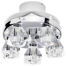 5 light bathroom ceiling spotlight w extractor fan chrome