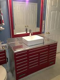craftsman tool box vanity with vessel sink unique vanities