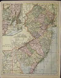 Map Of Hudson County Nj Prints Old U0026 Rare New Jersey Page