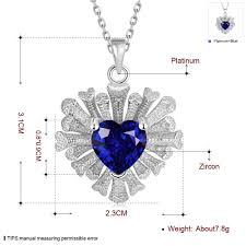 rose zircon necklace images Necklaces women classic heart gold plated rose gold plated jpeg