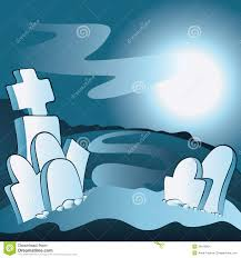 halloween graveyard background cartoon cemetery stock images image 34516604