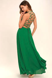 green dress chic green dress lace up dress backless dress maxi dress