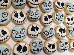 Decorated Halloween Sugar Cookies by Mini Jack And Sally Nightmare Before Christmas Cookies