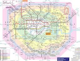 London Maps Travel Zones Map London London Map