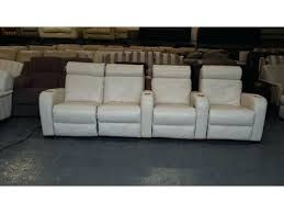 Cinema Recliner Sofa 4 Seat Leather Reclining Sofa Stjames Me