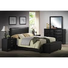 acme furniture ireland black eastern king upholstered bed 14337ek