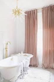 Half Height Curtains Bordered Linen Half Height Curtains In Bathrooms Soft
