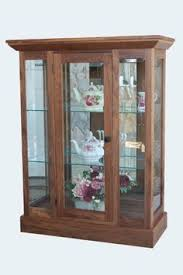 Mission Style Curio Cabinet Plans Amish Two Door Curio Cabinet Amish Doors And Cabinets