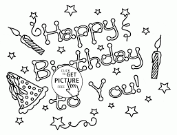 happy birthday to you letters coloring page for kids holiday