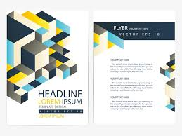 business single page brochure design colorful lines geometry