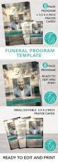 323 best funeral program templates images on pinterest