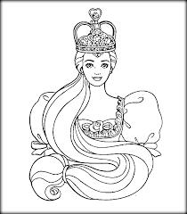 barbie princess coloring pages color zini