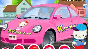 kitty car wash repair games children