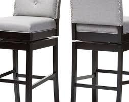 stool grey stool gray leather bar stools baxton studio ginaro