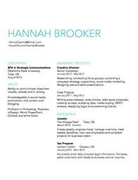 Examples Of A Simple Resume by Simple Clean Resume Design With Clear Section Headings Resumes
