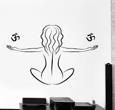 wall stickers and decals buy online wall decorations at buddhism wall decal yoga om meditation girl home interior decor z4037