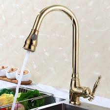luxury gold pull kitchen faucet high arc 2016 wholesale new