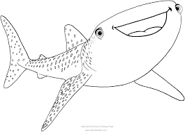 destiny whale shark finding dory coloring pages