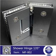 135 degree two sides brass glass clamps glass shower door hinge