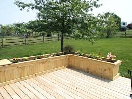patio planter boxes deck patio planters patio walls planter box