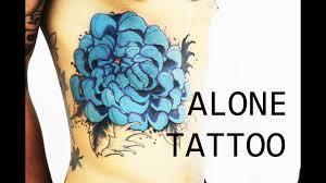 香港紋身alone tattoo 菊花 改圖覆蓋舊紋身 下集 youtube
