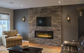 beautiful country living room design gray natural stone pleasant