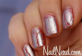 nail nerd nail art for nerds silver crackle nails