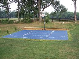 Backyard Basketball Court Backyard Basketball Court Dimensions Half Pictures With Charming
