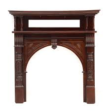victorian style carved wood fireplace mantel ebth