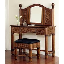 Makeup Stool Shop Home Styles Marco Island Cinnamon Makeup Vanity With Stool At