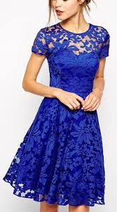blue lace dress royal blue homecoming dress lace homecoming dress popular