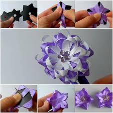 satin ribbon flowers diy easy satin ribbon flower bow home diy