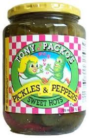 packo pickles tony packo pickle pepper sweet hot 24oz 4 unit