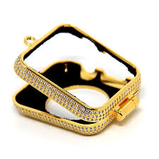 necklace case images Apple watch 1 2 3 24kg gold plated diamond necklace housing jpg