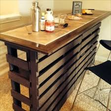 Indoor Bar Table Beautiful Diy Pallet Indoor Bar And Wine Rack Pallets Designs